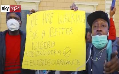 Roma, protesta per violenza polizia davanti ambasciata Nigeria. VIDEO