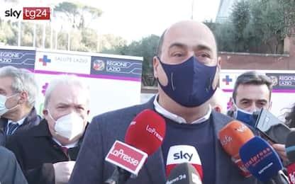 """Covid Lazio, Zingaretti: """"Campagna vaccini per over 80 dà speranza"""""""