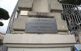 L'ingresso dell'istituto Spallanzani di Roma