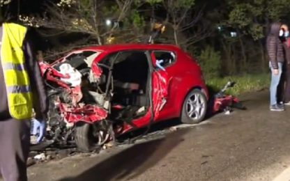 Scontro tra auto, 4 morti a Frosinone: al vaglio contenuto cellulari