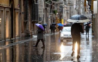 Heavy rains in Rome, 8 December 2020. ANSA/MASSIMO PERCOSSI