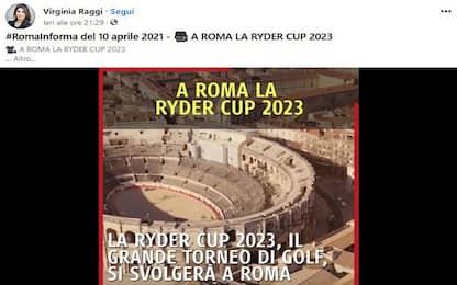 Raggi, Arena di Nimes al posto del Colosseo nel video sulla Ryder Cup