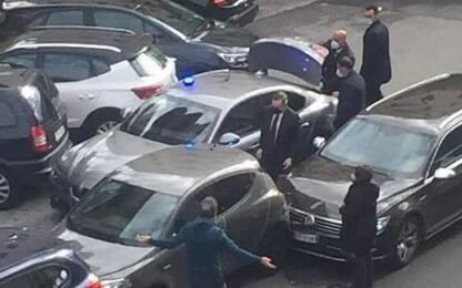 Premier Mario Draghi coinvolto in un lieve tamponamento a Roma