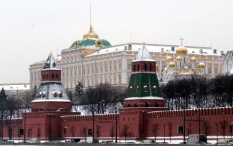 Una veduta del Cremlino. ANSA/Ciro Fusco