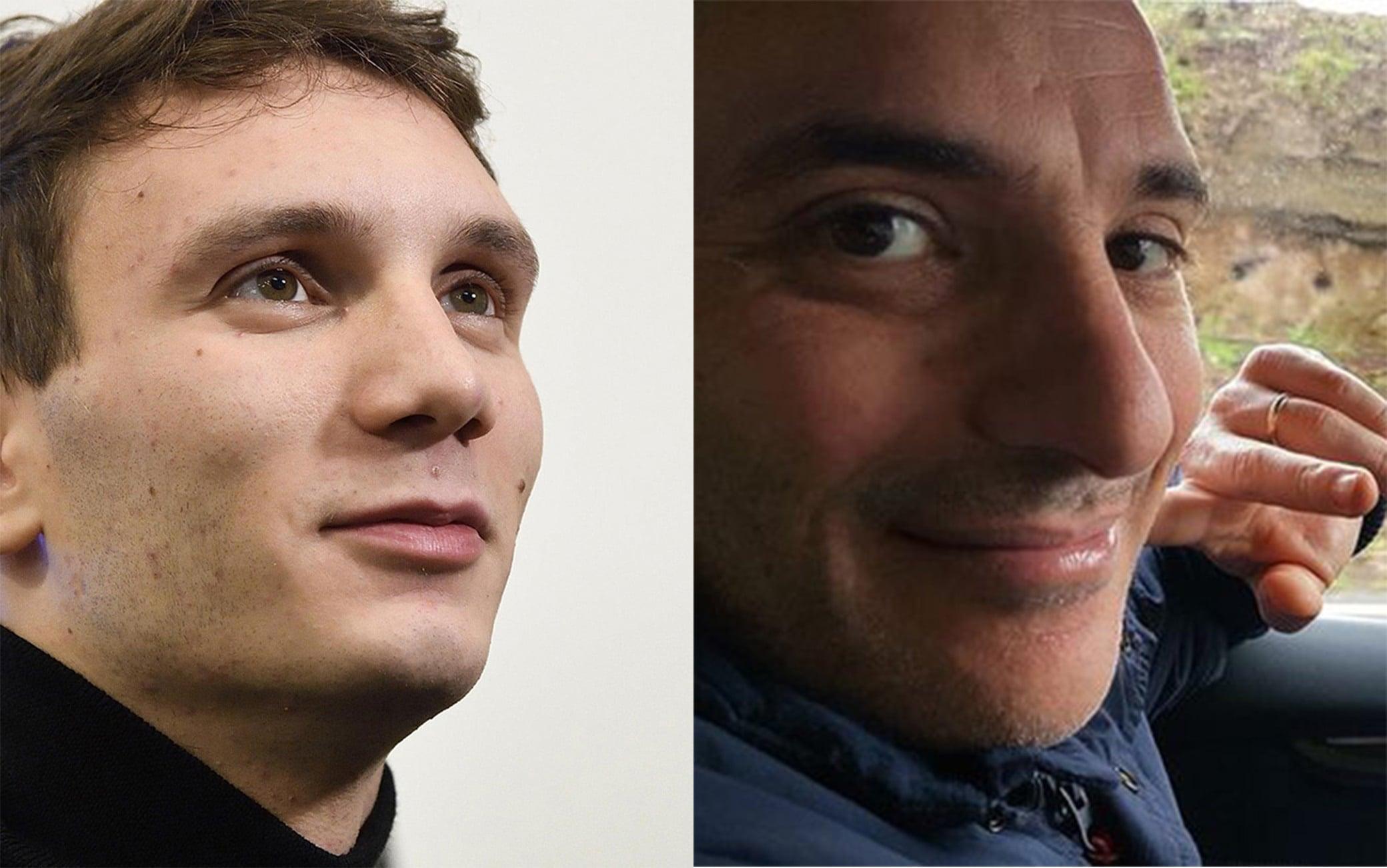 Il nuotatore Manuel Bortuzzo e il medico Agazio Menniti