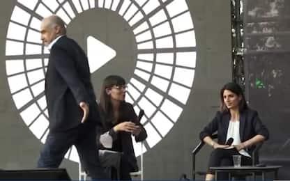 Roma, battibecco al confronto tra candidati sindaco: Michetti se ne va
