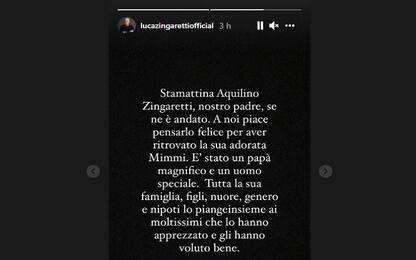 """È morto Aquilino Zingaretti, il figlio Luca: """"Era un uomo speciale"""""""