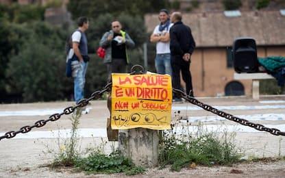 No Green pass, terminata la manifestazione a Roma