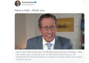 """Guarito dal Covid-19, giornalista Cnn racconta """"coda lunga"""" del virus"""