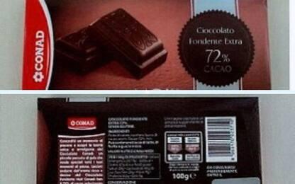 Ritirato cioccolato a marchio Conad: presenti frammenti di plastica