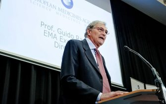 epa06483767 CEO of the European Medicines Agency (EMA) Guido Rasi during a press conference about the new location of the EMA at business district The Zuidas in Amsterdam, The Netherlands, 29 January 2018.  EPA/ROBIN VAN LONKHUIJSEN