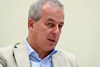Franco Locatelli, presidente del Consiglio Superiore di Sanità, durante la presentazione dei risultati dell'indagine di sieroprevalenza su SARS-COV-2 al Ministero della Salute, Roma, 3 agosto 2020. ANSA/RICCARDO ANTIMIANI