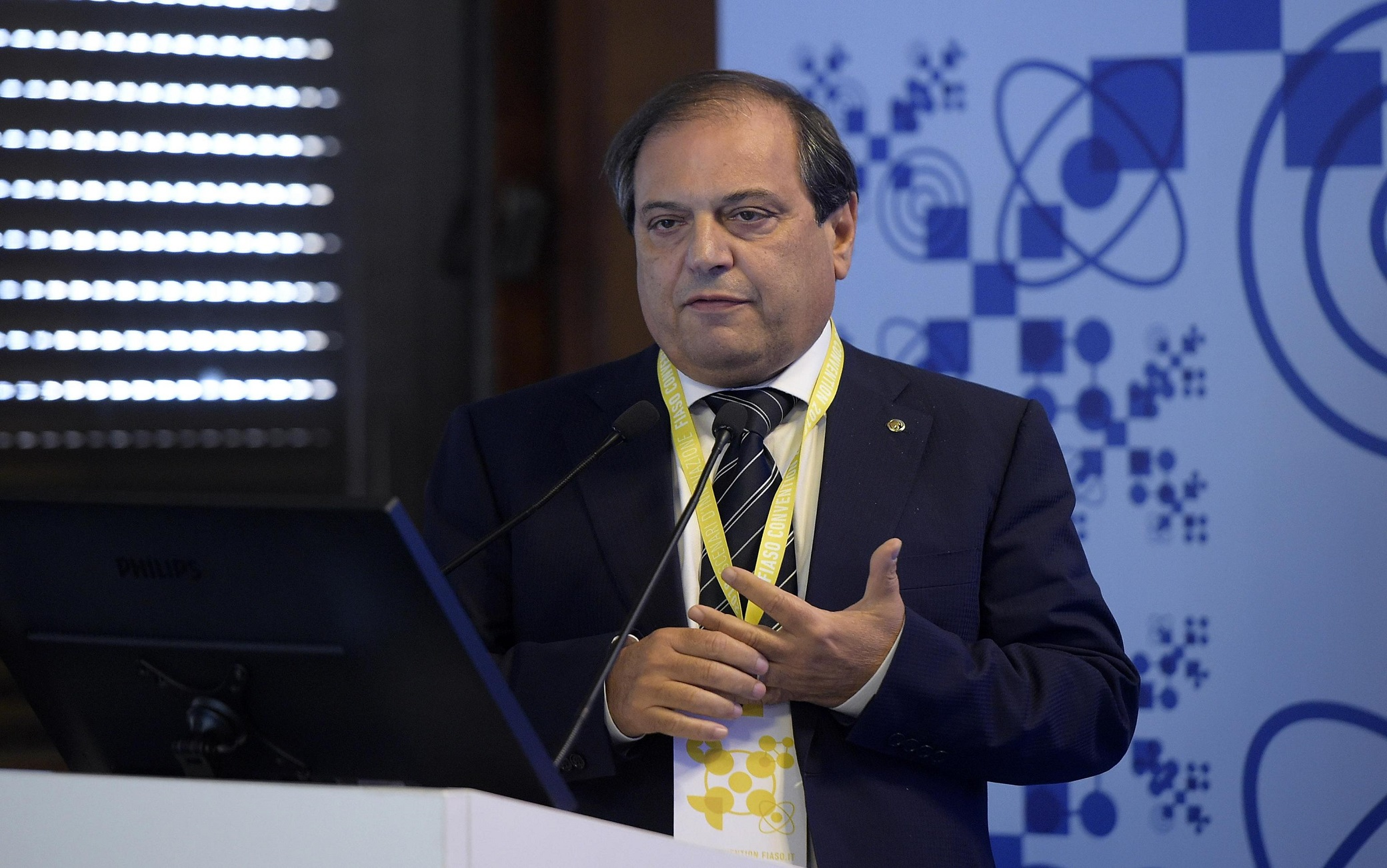 Filippo Anelli durante la Convention Fiaso 2018 a Palazzo dei Congressi all'Eur, Roma 08 Novembre 2018. ANSA / LUIGI MISTRULLI