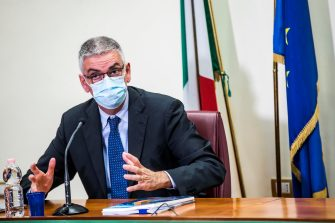 President of the Italian National Institute of Health (ISS) Silvio Brusaferro, during a press conference at Ministry of Health on the analysis of the epidemiological situation in Rome, Italy, 10 November 2020. ANSA/ANGELO CARCONI