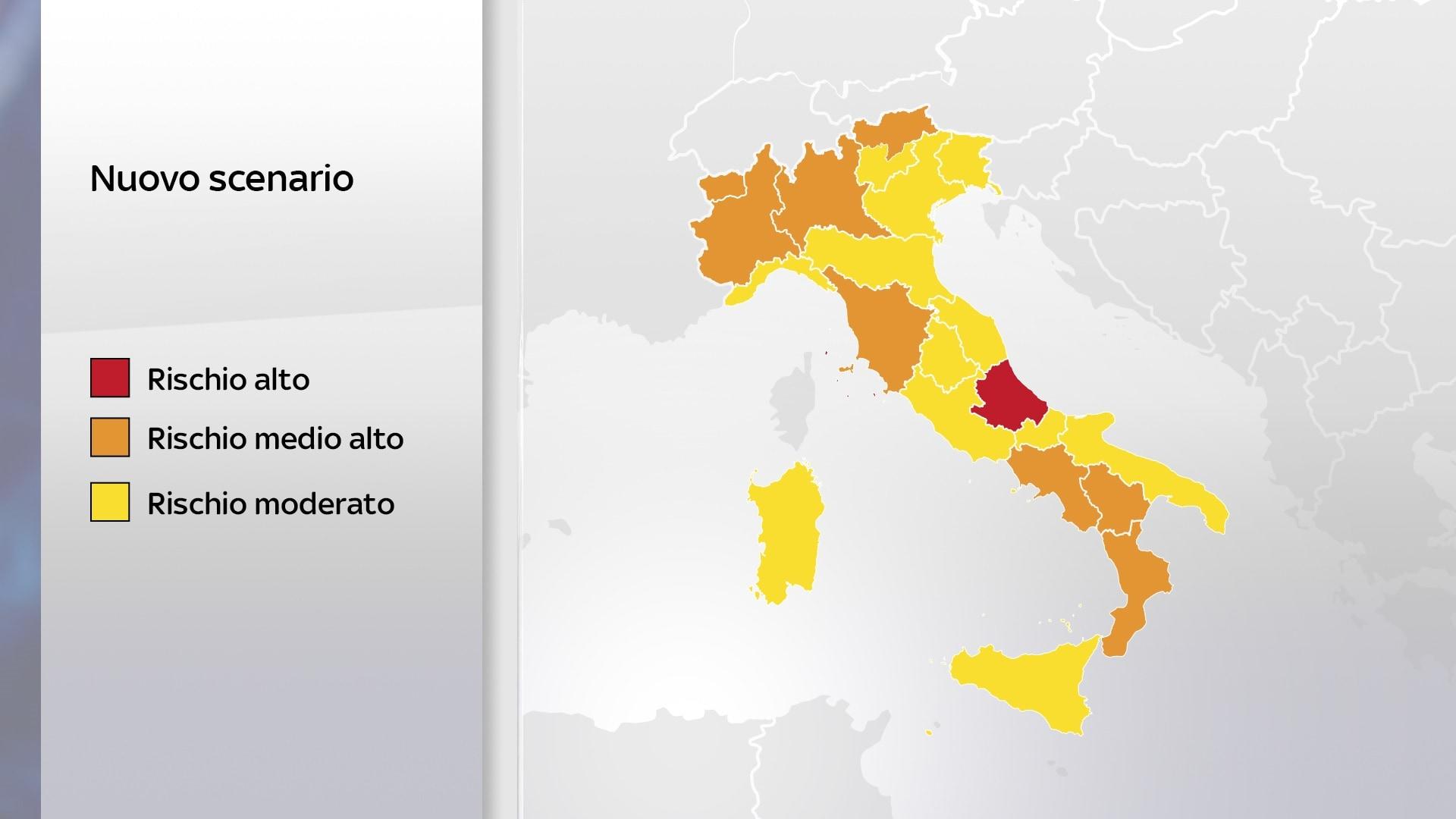 mappa italia zone rosse