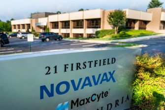 epa08534367 Novavax Inc. headquarters in Gaithersburg, Maryland, USA, 08 July 2020. The company received a 1.6 billion US dollar award from the US government to further develop its experimental COVID-19 vaccine.  EPA/JIM LO SCALZO