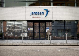 epa09065020 Exterior view of the pharmaceutical company Janssen in Leiden, The Netherlands, 10 March 2021. The European regulator, the European Medicines Agency (EMA), is expected to issue an decision soon on the vaccine against COVID-19 that has been developed by the Janssen pharmaceutical company. The Netherlands has ordered more than 11 million doses of the Leiden vaccine. The vaccine requires only one dose in order to immunise recipients against coronavirus.  EPA/SEM VAN DER WAL