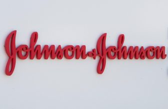 (FILES) In this file photo taken on August 28, 2019 an entry sign to the Johnson & Johnson campus shows their logo in Irvine, California. - The Johnson & Johnson vaccine is highly effective against severe Covid-19, including against the South African and Brazil variants, new documents released by the US Food and Drug Administration showed on February 24, 2021. In large clinical trials, the vaccine efficacy against severe disease was 85.9 percent in the United States, 81.7 percent in South Africa, and 87.6 percent in Brazil. (Photo by Mark RALSTON / AFP)