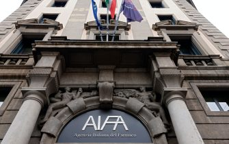 Roma, 8 gennaio 2021. La sede dell'Aifa, Agenzia Italiana del Farmaco, in Via del Tritone