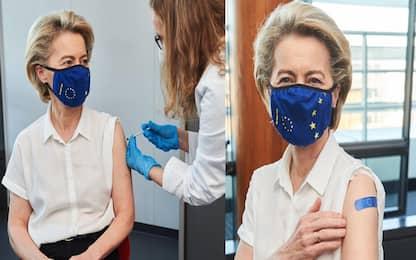 Vaccino Covid, prima dose per Ursula von der Leyen
