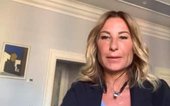 Valeria Marino, direttore medico di Pfizer, durante l'intervento a Sky TG24