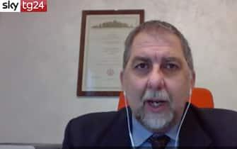 Il segretario del Cts Fabio Ciciliano durante un'intervista a Sky TG24