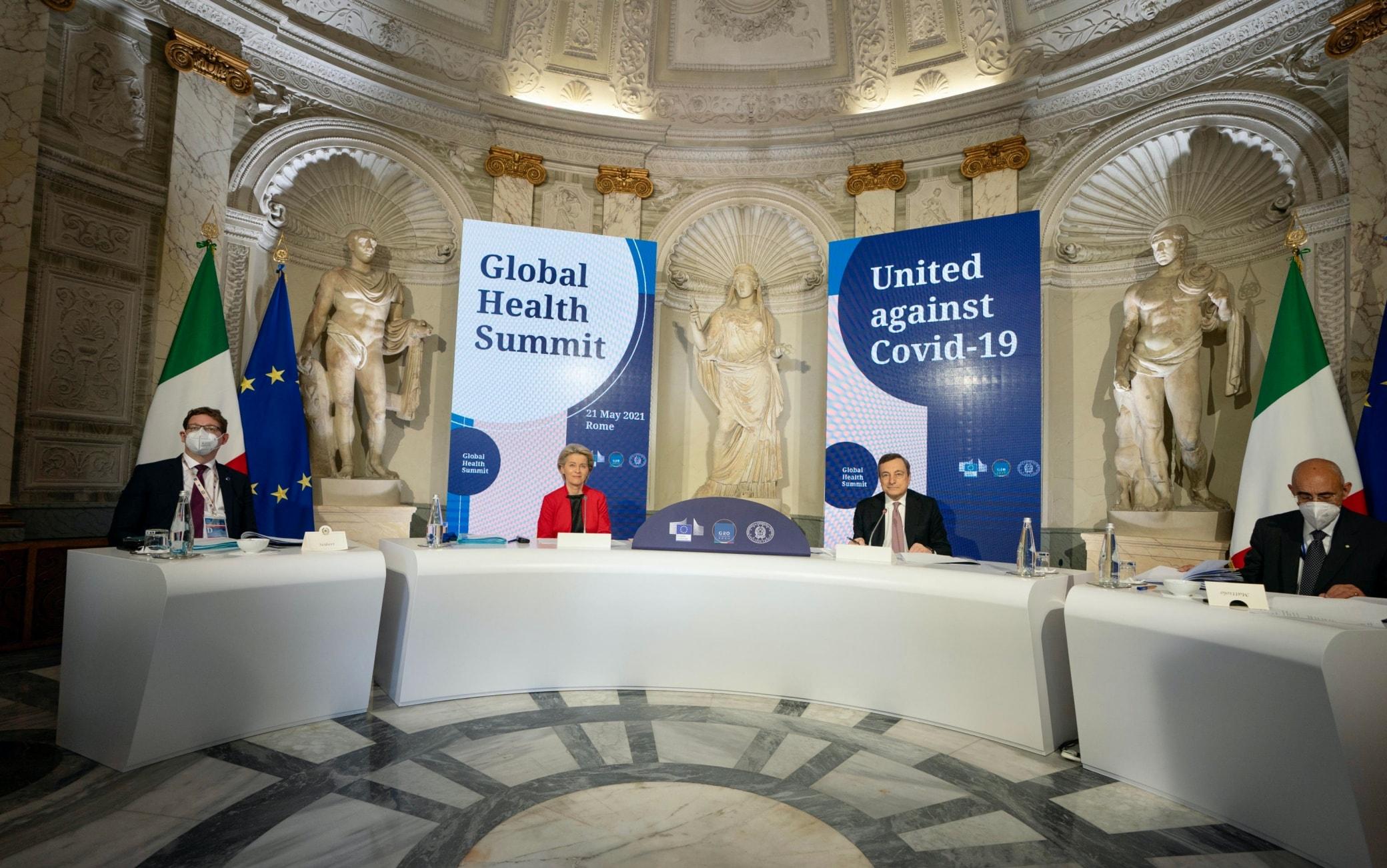Un momento del Global Health Summit a Roma