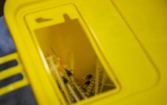 (4/3/2021) AstraZeneca Covid-19 vaccine in Palermo. (Photo by Antonio Melita/Pacific Press/Sipa USA)