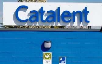 The exterior of the plant of the multinational Catalent, where the anti-Codid19 vaccine of Astrazeneca is inflamed, Anagni 25 March 2021. ANSA/FABIO FRUSTACI