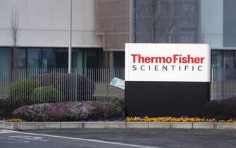 Lo stabilimento della Thermo Fisher Scientific dove saranno prodotti i vaccini anticovid Pfizer-BioNTech, Monza, 25 marzo 2021. ANSA/MATTEO BAZZI