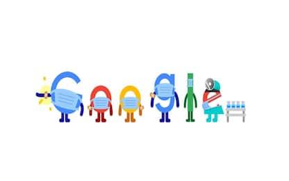 Google: il doodle di oggi dedicato a Covid, vaccini e mascherine