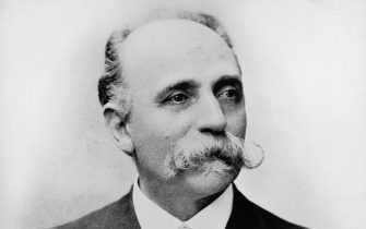Portrait of Bartolomeo Emilio Camillo Golgi (1843-1926), Italian scientist and physician, Nobel Prize in Medicine in 1906, photograph. (Photo by DeAgostini/Getty Images)