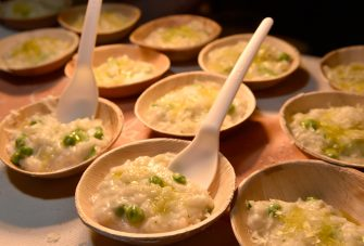 LAS VEGAS, NV - APRIL 29:  Crab risotto is served at the Giada booth during Vegas Uncork'd by Bon Appetit presented by Chase Sapphire Preferred 10th anniversary Grand Tasting at Caesars Palace on April 29, 2016 in Las Vegas, Nevada.  (Photo by David Becker/Getty Images for Vegas Uncork'd by Bon Appetit)