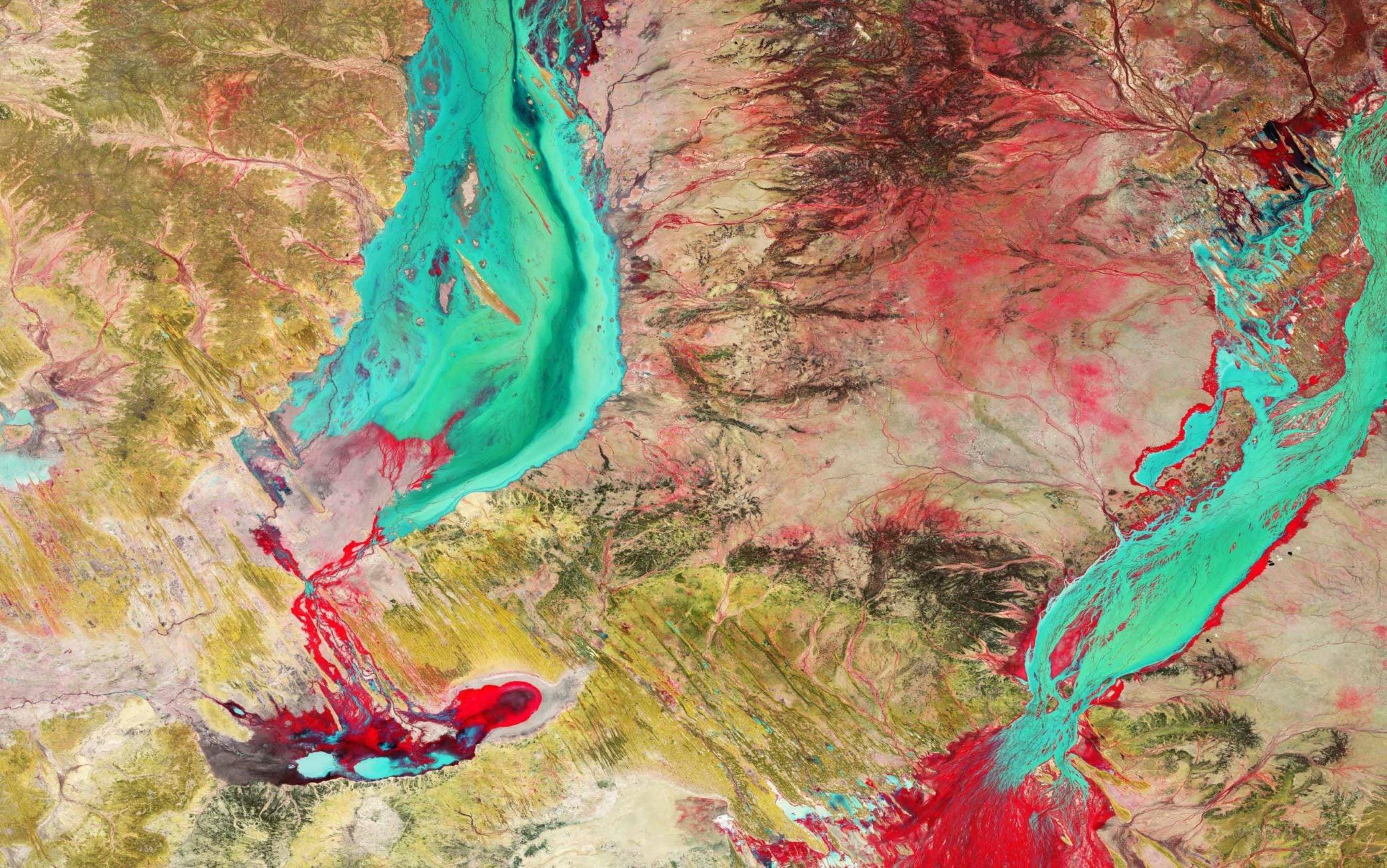L'area fotografata dai satelliti dell'Esa