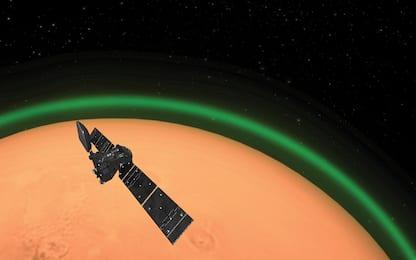Catturato per la prima volta un bagliore verde nell'atmosfera di Marte