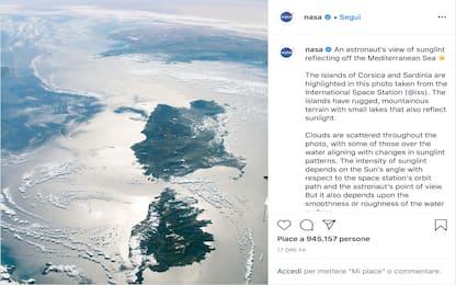 Sardegna a testa in giù, in una foto della Nasa l'isola vista dall'Iss