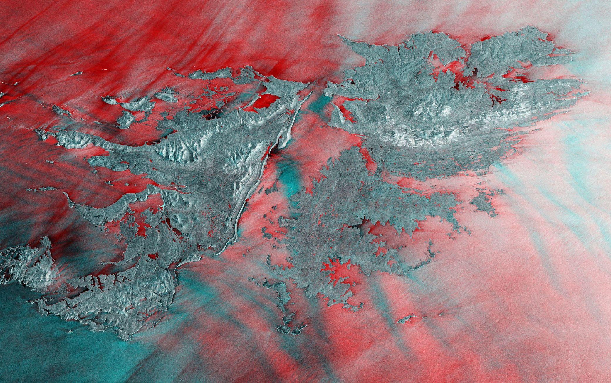 Le Isole Falkland viste dai satelliti