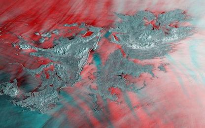 Le Isole Falkland viste dai satelliti dell'European Space Agency. FOTO