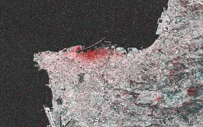 Beirut, i danni delle esplosioni fotografati dallo spazio. FOTO