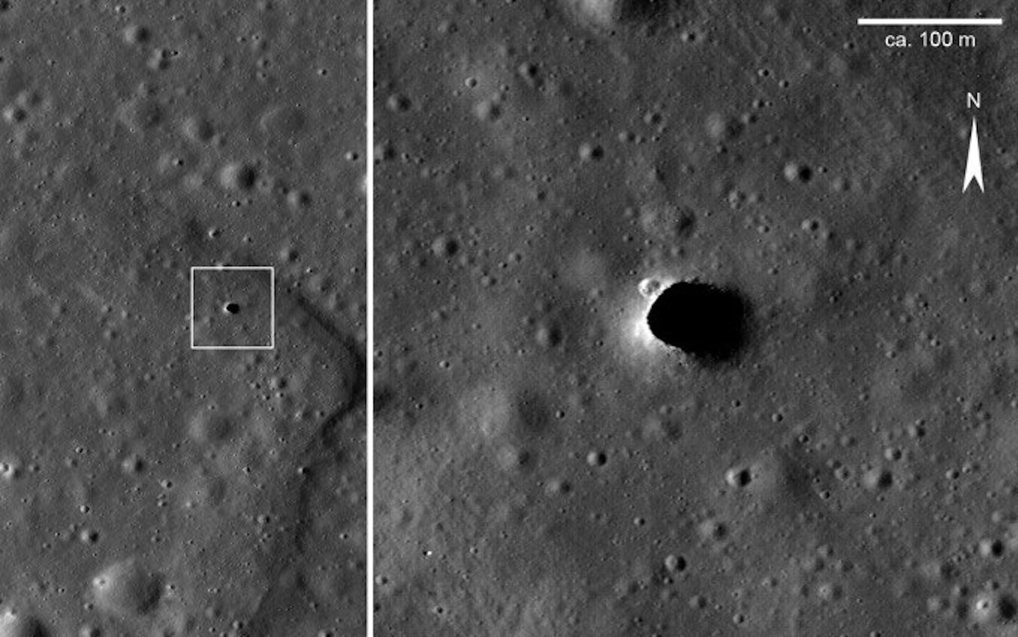 Il probabile ingresso di un tubo lavico lunare nell'area di Marius Hills