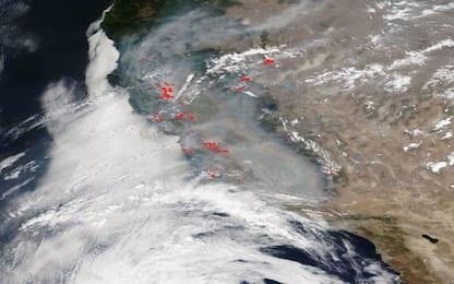 Nasa, gli incendi in California osservati dallo spazio. FOTO