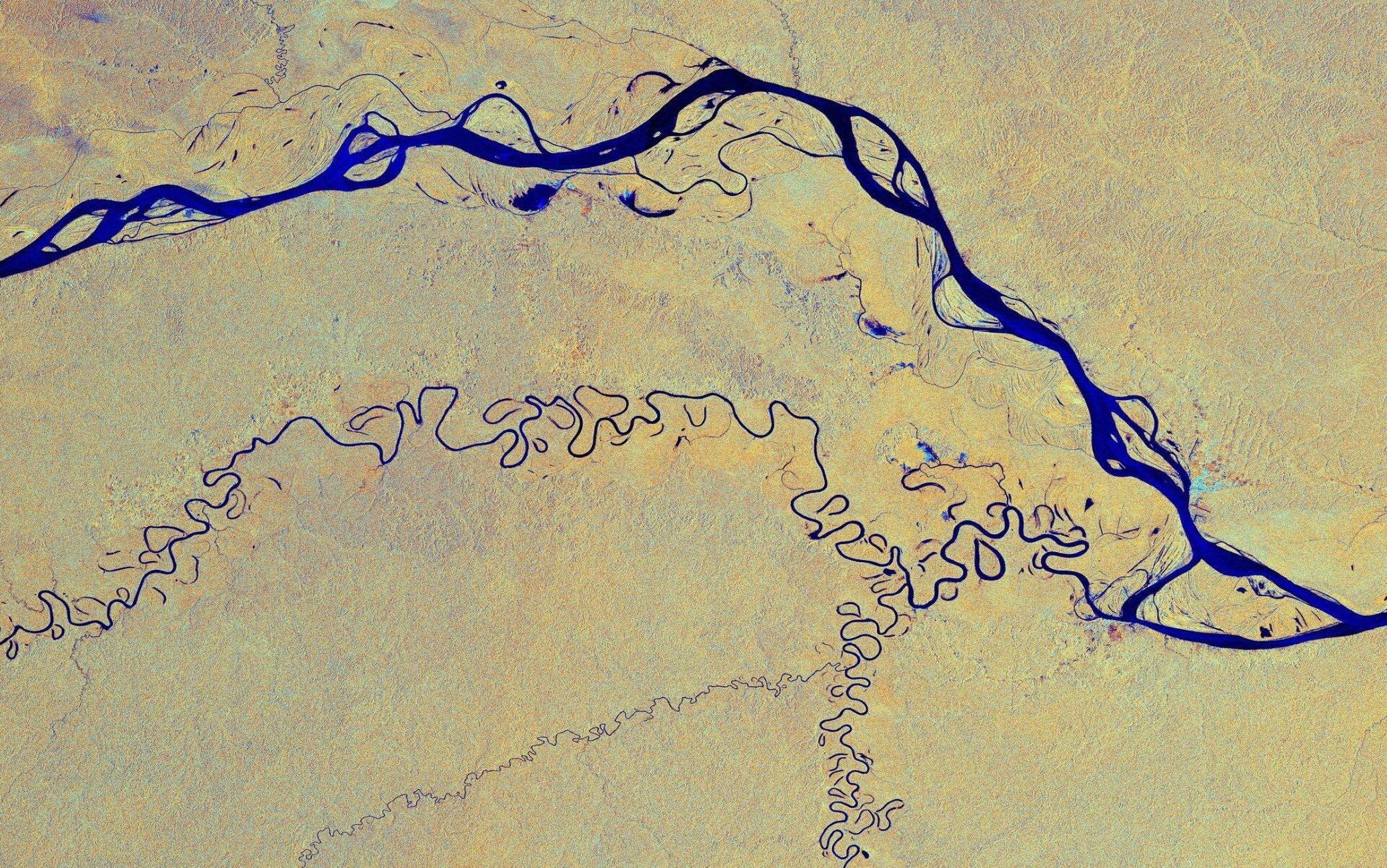 Il fiume visto dalla spazio