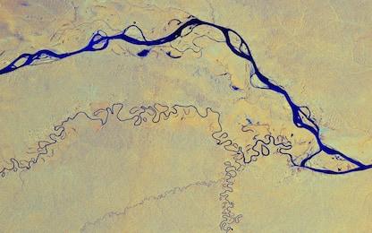 Lo spettacolo del Rio delle Amazzoni visto dallo spazio. FOTO