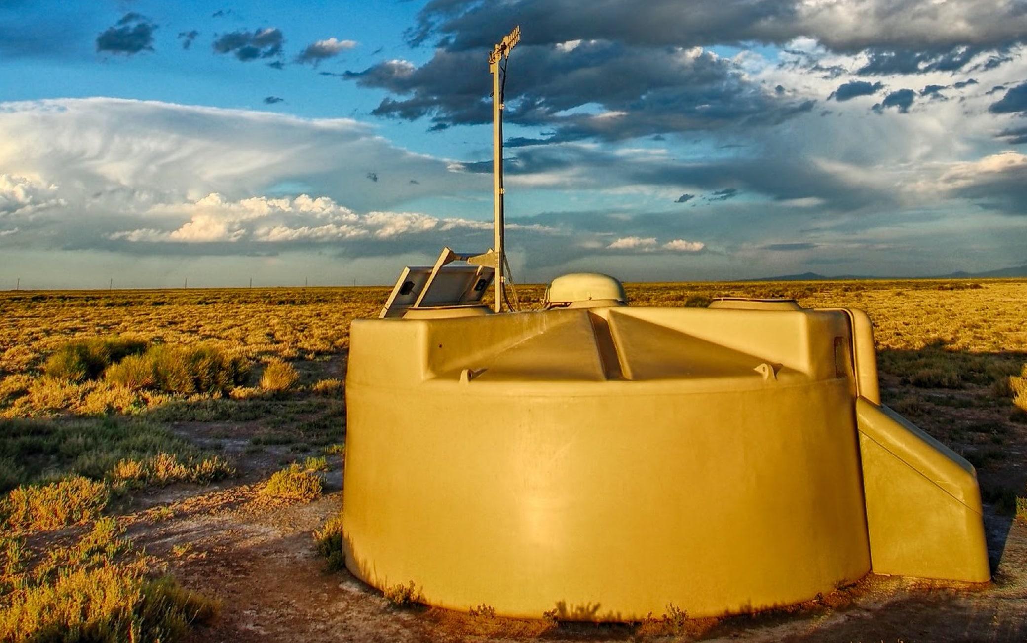 Una delle taniche dell'Osservatorio Auger