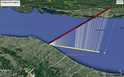 Civitanova Marche: frammento di cometa esploso sulla costa Adriatica