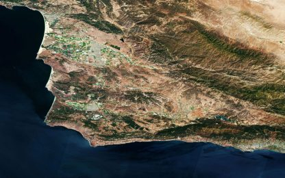 La base aerea di Vandenberg, in California, fotografata dai satelliti