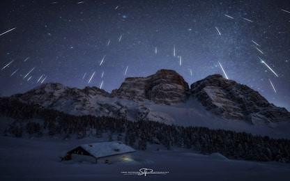 Nasa, le Geminidi sulle Dolomiti nella foto astronomica del giorno