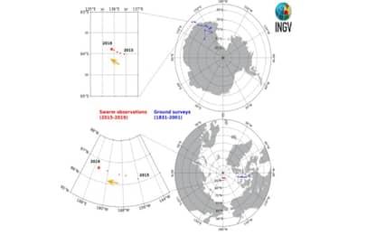 Il polo nord magnetico corre veloce verso la Siberia: lo studio