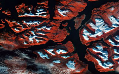 Esa: i colori natalizi nella foto dei satelliti su Tromsø, in Norvegia