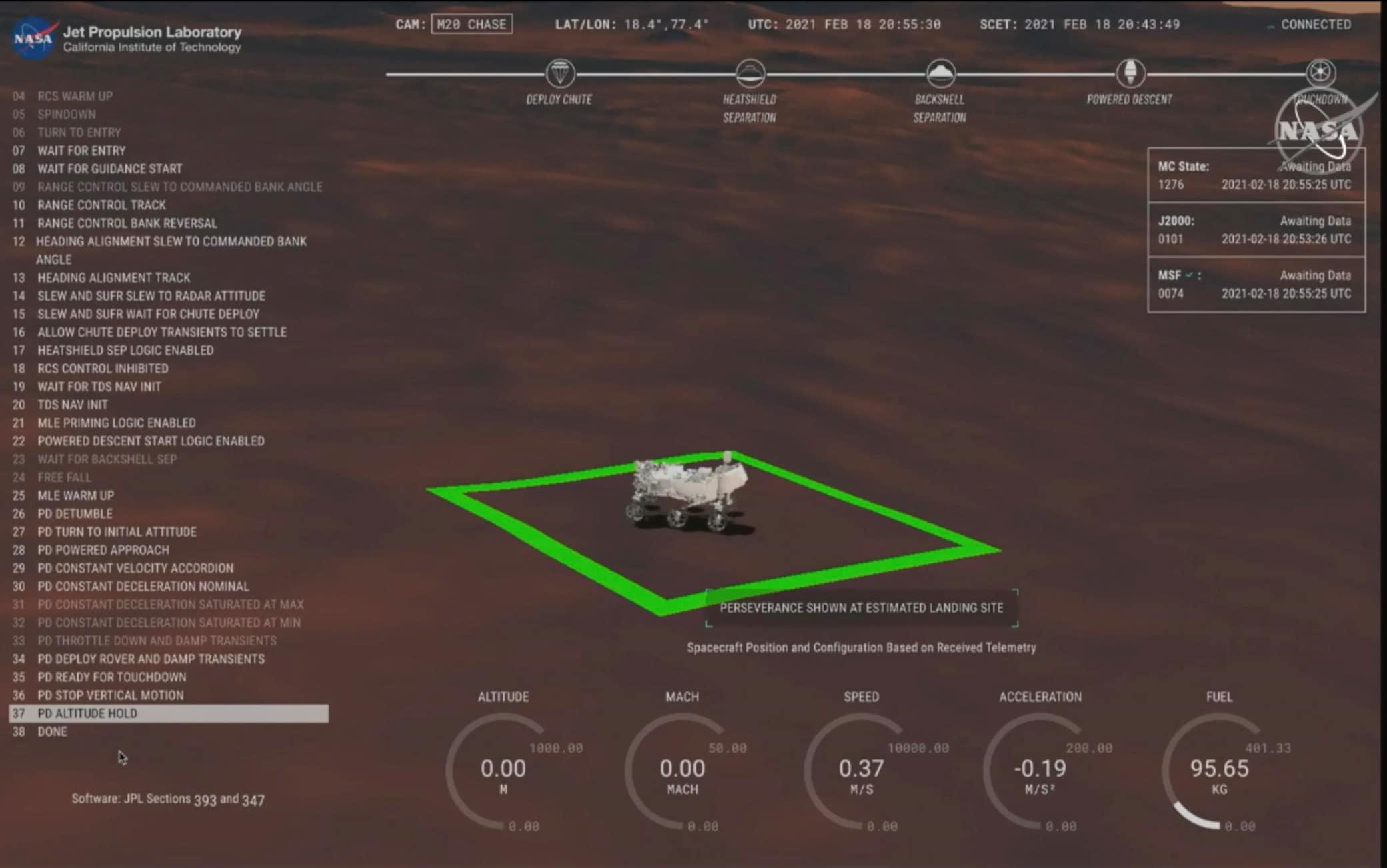 Perseverance arriva su Marte: 18 febbraio 2021